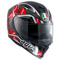 AGV K5 S Full Face Motorcycle Helmet Hurricane Black/Red/White