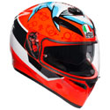 AGV K-3 SV Full Face Motorcycle Helmet Attack