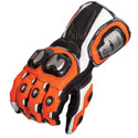 AGV Sport Echelon Leather Motorcycle Gloves Orange/Black/White