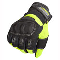 AGV Sport Twist Short Motorcycle Gloves Black/Fluo Yellow