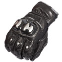 AGV Sport Rivet Short Leather Motorcycle Gloves Black