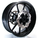 Braking Forged Aluminum Rear Wheel Kit With Sprocket & Rotor