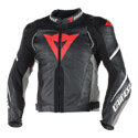 Dainese Super Speed D1 Perf. Jacket Blk/Anthracite/White Size 52