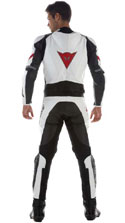 Dainese Laguna Seca Div. New 2pc Leather Suit White/Black/Black