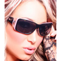 Divine Serenity Black Pink and Clear Frame Smoke Polarized Lens