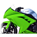 2013 Kawasaki Ninja 300 Hotbodies Color Form Upper Body Panel