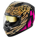 Icon Alliance GT Full Face Motorcycle Helmet Shaguar Pink