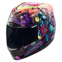 Icon Airmada Full Face Motorcycle Helmet Space Bass Face