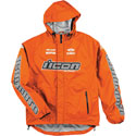 Icon PDX Waterproof Shell Motorcycle Rain Jacket Hi-Viz Orange