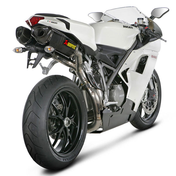08-13 Ducati 848/Evo Akrapovic Dual Carbon Slip-on Exhaust