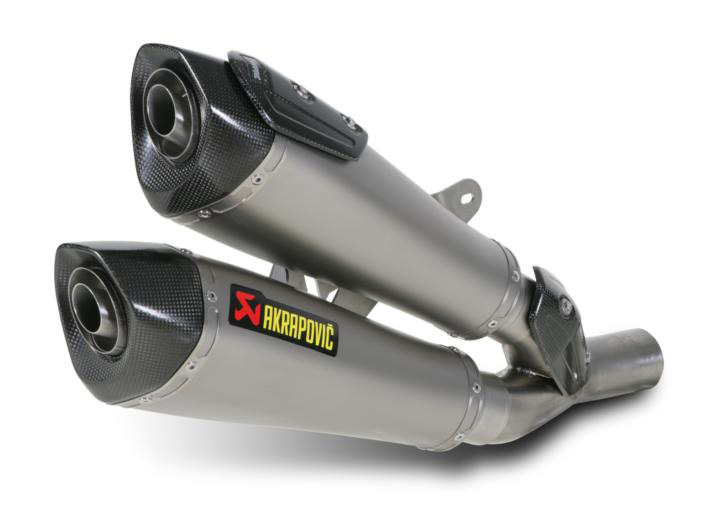 11-18 Ducati Diavel Akrapovic Slip-On Exhaust Titanium