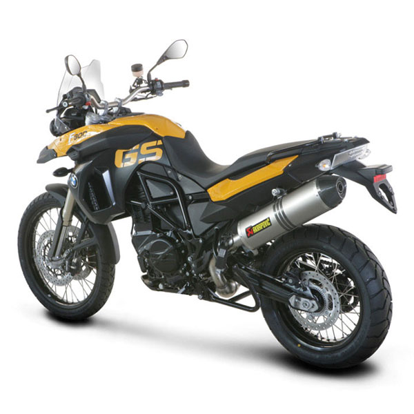 08-16 BMW F800GS Akrapovic Street Legal Slip-On Exhaust Titanium