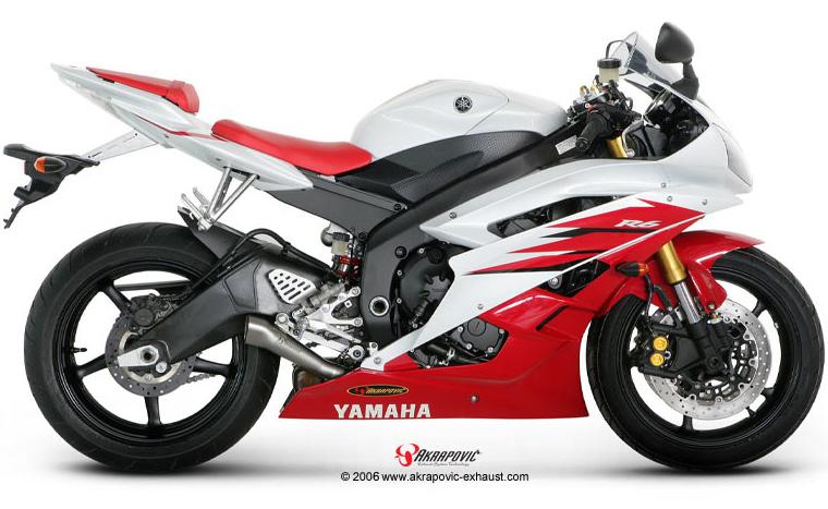06 18 Yamaha YZF R6 Akrapovic Titanium Megaphone Slip On