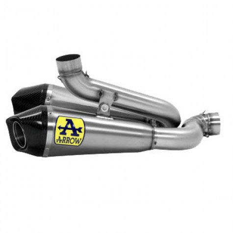 Ducati Panigale V4/S Arrow Works Slip-On Exhaust Titanium/Carbon
