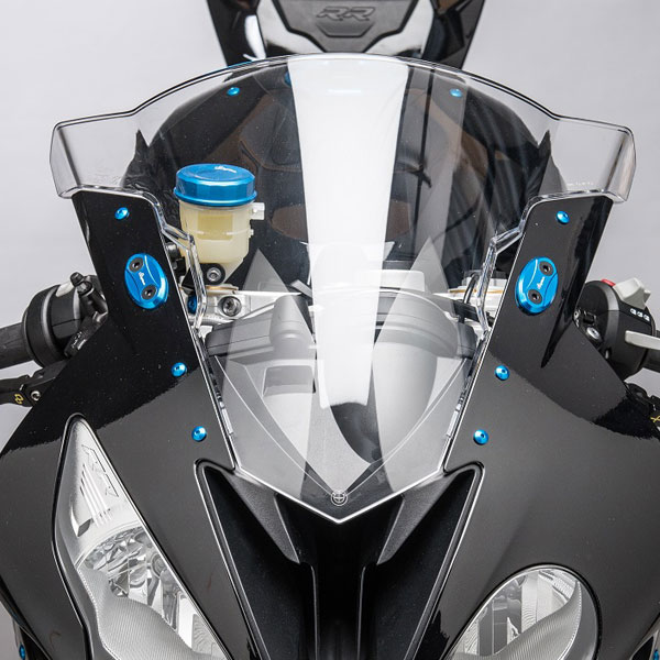 09-17 BMW S1000RR Lightech Mirror Block Off Plates