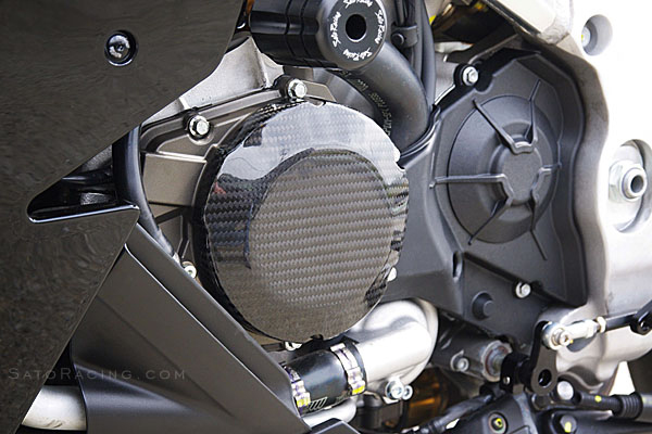 09-14 Aprilia RSV4 Sato Racing Carbon Engine Cover Left