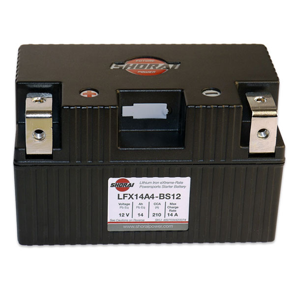 Shorai Lithium Iron Battery LFX14A4-BS12