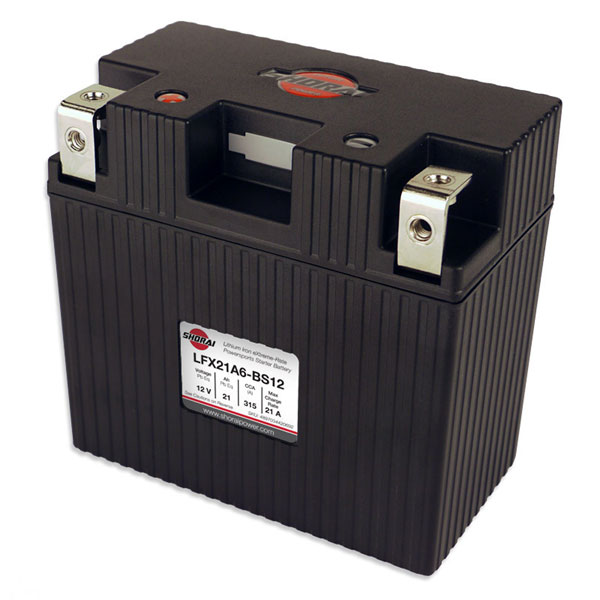 Shorai Lithium Iron Battery LFX21A6-BS12