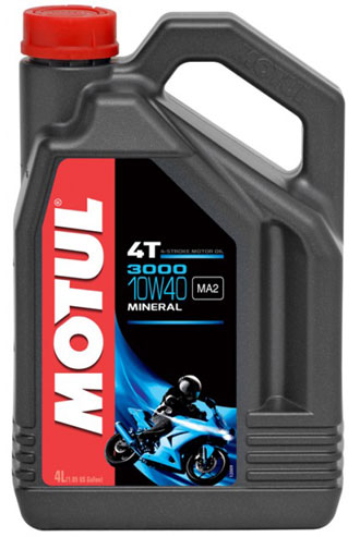 Motul 3000 Paraffin-Based Motor Oil 10W40 3.87 Liters