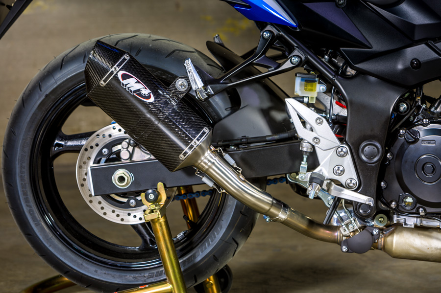15-16 GSX-S 750 M4 Std MC36 Carbon Slip-on Exhaust System