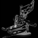 2007-2008 Suzuki GSXR1000 Sato Racing Adjustable Rearsets Black
