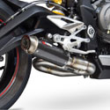 17-18 Street Triple 765 Scorpion RP1-GP Slip-On Exhaust Carbon