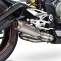 17-18 Street Triple 765 Scorpion RP1-GP Slip-On Exhaust Titanium