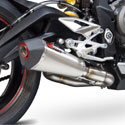 17-18 Street Triple 765 Scorpion Serket Slip-On Exhaust SS