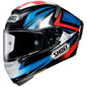 Shoei X-14 Motorcycle Helmet Bradley 3 Black/Blue/Red Size Small