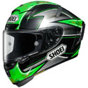 Shoei X-14 Full Face Motorcycle Helmet Laverty Black/Green