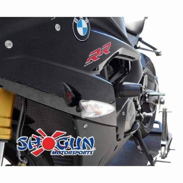 15-16 BMW S1000RR Shogun No-Cut Frame Sliders Black