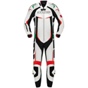Spidi Track Wind Pro 1-Pc Leather Tracksuit White/Italy
