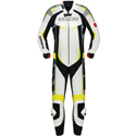 Spidi Track Wind Pro 1-Pc Leather Tracksuit White/Yellow