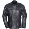 Tourmaster Lawndale Mens Leather Motorcycle Jacket Black